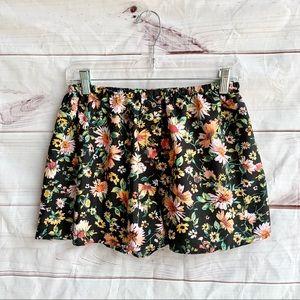 Band of Gypsies Floral Black Shorts